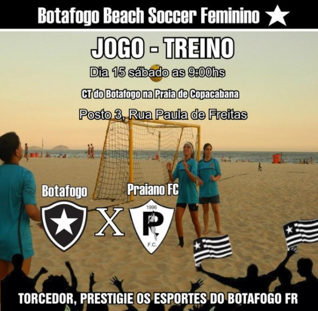 Jogo-treino: Botafogo x Praiano FC, Beach Soccer Feminino